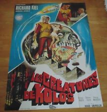 THE HUMAN DUPLICATORS 1965 ORIGINAL FRENCH CINEMA MOVIE POSTER Richard Kiel HUGE