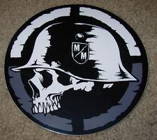 "METAL MULISHA Gray Circle Helmet Skate Sticker 6"" motocross skateboard decal"