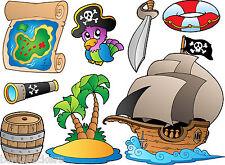 Stickers muraux enfant Pirates 25x30cm réf 3587