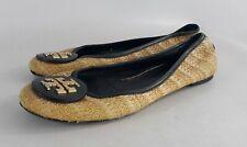 Tory Burch Reva Rafia Straw flats Shoes