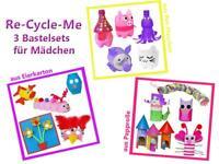 Re-Cycle-Me - 3er Bastelset für Mädchen basteln mit Papprolle, PET-Flasche NEU