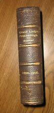 Vintage Proceedings of the Grand Lodge of Kansas,1898-1900,Freemasonry, Masonic