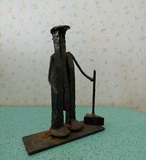 Railroad Spike Art Man With Hammer Folk Art Railroadiana