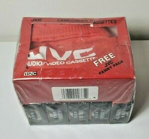 JVC VHS-C 5pack camcorder cassette tapes with Fanny Pack sealed TC-20 SX