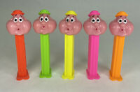 Bubbleman Neon Stems 4.9 Hungary Pez Dispensers Lot of 5