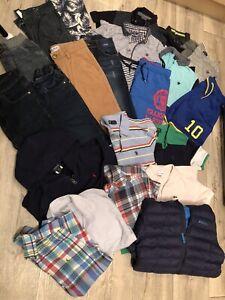 Big Bundle Boys Clothes Age 10/11/12 Years Next, H&M, Lacoste, Ralph - 24 items