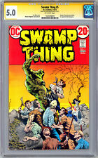 SWAMP THING #5 CGC-SS 5.0 *SIGNED ORIG ARTIST & CREATOR BERNIE WRIGHTSON* 1973