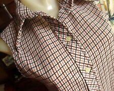 Medium True Vtg 70s Stretch Knit Printed Sleeveless Disco Collared Top Womens