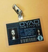 Orphan Black ID Badge -DYAD Institute Sarah Manning Cosplay prop costume