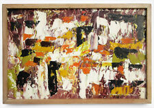1958 DUMOULIN SIGNED POST-WAR ABSTRACT EXPRESSIONISM OIL PAINTING EAMES ERA