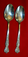 Lot of 2 Teaspoons WM ROGERS & SON MFG. CO 1951 INSPIRATION-MAGNOLIA Silverplate