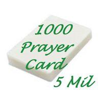 1000 Prayer Card Laminating Laminator Pouches Sheet 5 Mil 2-3/4 x 4-1/2 Scotch Q