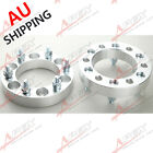 """2PC 32mm 1.25"""" 6x139.7 to 6x139.7 Wheel Spacers Adapters 32mm 12x1.5 Studs AU"""