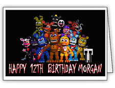 FNAF World Five Nights at Freddy's Personalised Kids Birthday Card - Any Name