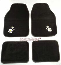 Universal Non-slip Full Carpet Daisy Flower Car Mats 4 PCE For All Models