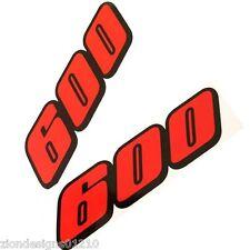 600 GSXR SRAD autocollants pour Moto personnalisé graphiques x 2 orange