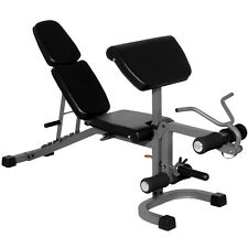 XMark FID Flat Incline Decline Weight Bench with Arm Curl and Leg Developer...