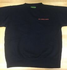 Fire & Rescue Service Sweatshirt - Size Medium In Navy Blue