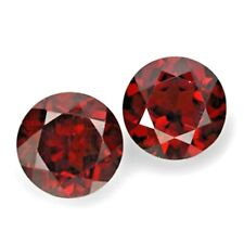 5mm Round Faceted Pair of Natural Mozambique Garnet Loose Calibrated Gemstone
