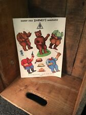 Advertising Paper Doll - Anthropomorphic Bear - Barney's Sandpaper Behr-Manning