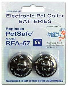3/4 - 2 (3)Hole Dog Fence Replacement Strap + 2 High Tech  RFA 67D BATTERIES KIT