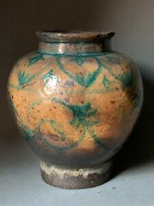 Very old glazed ceramic vase 2