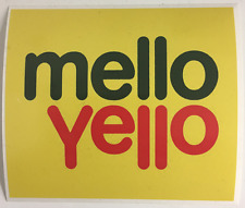 STICKER MELLO YELLO SOFT DRINK BUMPER STICKER FREE POST