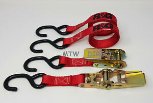 R&G MOTORCYCLE  TIE DOWN 25mm RATCHET STRAPS | Pair | ST0699