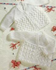 "Baby Knitting Pattern Cardigan 12-20"" Premature sizes  DK 197"