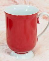 Vintage Pedestal Red Coffee Mug Holt Howard - Mid-Century Footed 1965