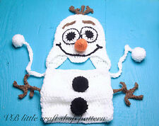 Olaf hat and cowl crochet pattern. To fit 12-24 months baby.