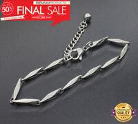 Silber kette Armband Edelstahl Panzerkette für Männer Herrenkette Armkette SA1