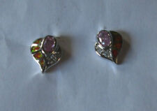 Opal Silver Plated Lab-Created/Cultured Costume Earrings