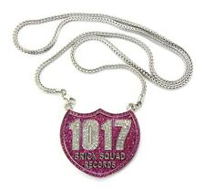 """ICED OUT 1017 BRICK SQUAD PENDANT-1 & 36"""" FRANCO CHAIN"""