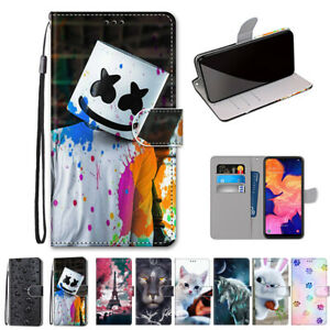 For Samsung Galaxy A10 A10S A20S  Case Pattern Wallet Leather Strap Stand Cover