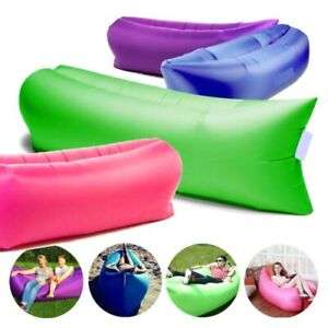 Inflatable Sofa Air Bag Outdoor Sleeping Couch Camping Bed Inflatable Lounge