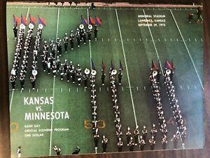 KANSAS VS MINNESOTA COLLEGE FOOTBALL PROGRAM 1973 VERY GOOD CONDITION