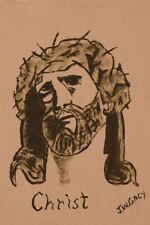 Stampa incorniciata-John Wayne gacy REPLICA disegno Gesù Cristo (Pittura foto)