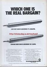 BMW Parts Shock Absorber 1985 Magazine Advert #474