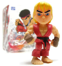 """Loyal Subjects STREET FIGHTER Action Vinyls KEN 3"""" Figure Opened Blind Box"""