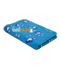Tapis Confortbed Vetbed Dry Extra  motif Modern pattes,26 mm bleu 100x150 cm