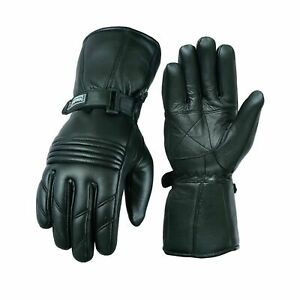 Motorcycle Genuine Leather  Gloves Motorbike Riding Glove Thermal Lining