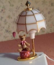 1:12 Scale Working Miniature LAMP, 12 volt Round Bulb, Tiny Bear Figure on Drum.