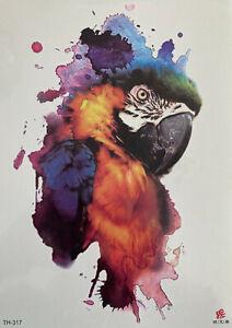 Parrot Temporary Tattoo Body Art Fake Waterproof