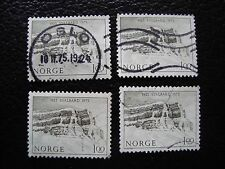 NORVEGE - timbre yvert et tellier n° 665 x4 obl (A30) stamp norway