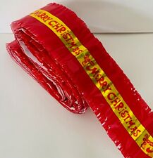 Traditional Merry Christmas FESTIVE Cake Frill Red/Gold 7 meters in length