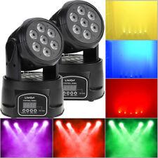 2X Lixada DMX512 RGBW Bühnenlicht Moving Head LED Bühnenbeleuchtung 9/14 Kanäle