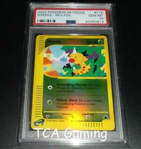 PSA 10 GEM MINT Weedle 115/144 REVERSE HOLO Skyridge Set Pokemon Card