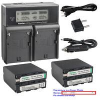 Kastar Battery Dual Fast Charger for NP-F990 & DSR-PD170 DSR-PD190 DSR-V10