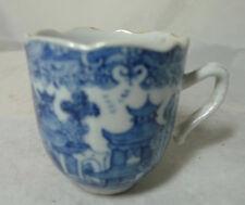 Antique Blue & White Chinois Tasse à café A602017